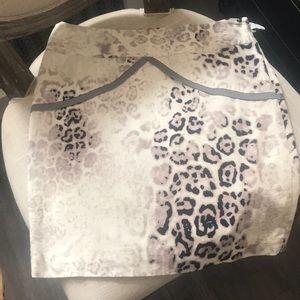 Leopard print Italian skirt